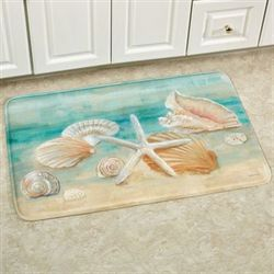 Horizon Shells Rectangle Mat Multi Cool 111 x 3