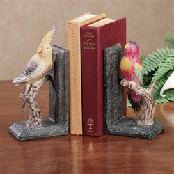 Tropical Birds Duo Bookend Pair Multi Warm Pair