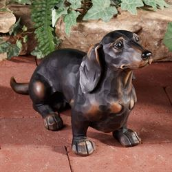 Morning Walk Dachshund Sculpture Black