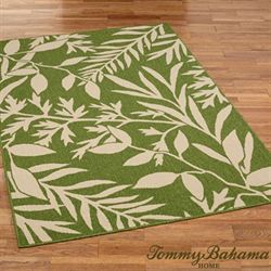 Cabana Leaves Rectangle Rug Peridot