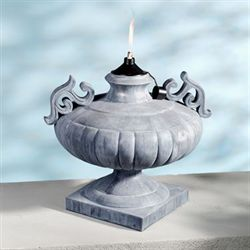 Apollonia Urn Oil Lamp Gray