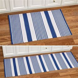Summer Stripe Woven Accent Rug Blue 2 x 3