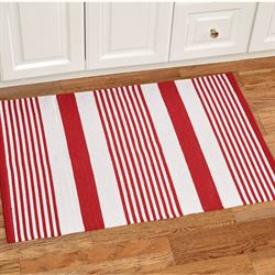 Summer Stripe Woven Accent Rug Red 2 x 3