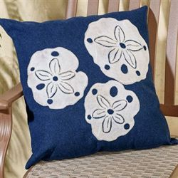 Sand Dollars Pillow Navy 20 Square