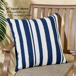 Marina Stripe Pillow Navy Rectangle