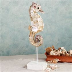 Oceania Seahorse Table Sculpture Ivory