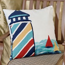 Lighthouse Cove Pillow Multi Bright Rectangle