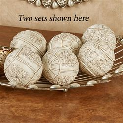 Britannia Decorative Orbs Antique Ivory Set of Three