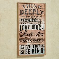 Think Deeply Wall Plaque Multi Earth