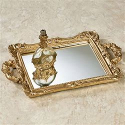 Farris Mirrored Vanity Tray Champagne Gold