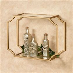 Chic Glamour Wall Shelf Gold