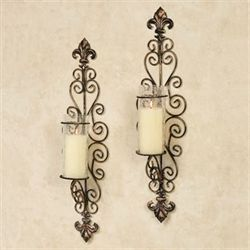 Celina Wall Sconce Pair Black/Bronze