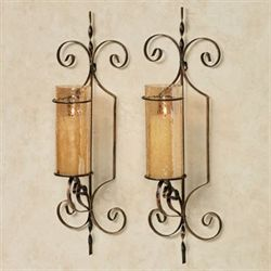 Knox Wall Sconce Pair Black/Bronze