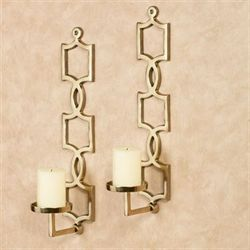 Clementine Wall Sconces Gold Pair