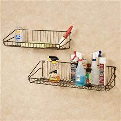 Maddox Wall Shelves Gray Set of Two
