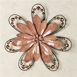 Floral Gem Peach Wall Accent