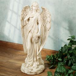Heavenly Herald Angel Statue Ivory