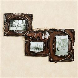Tame the Wild Horse Photo Frame Brown