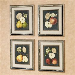 Olivia Fruit Wall Art Black Set of Four