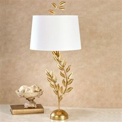 Emmeline Gold Leaf Table Lamp Each with CFL Bulb