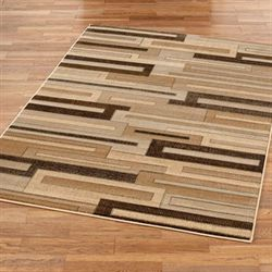 Ashlar Rectangle Rug Dark Beige