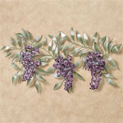 Wisteria Branch Wall Sculpture Purple