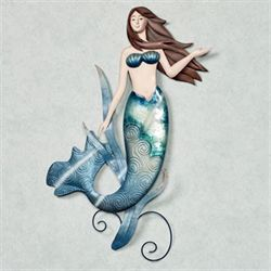 Indigo Mermaid Wall Art Multi Cool