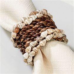 Natural Woven Napkin Rings Multi Earth Set of Four