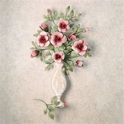 Bouquet de Roses Wall Sculpture Pink