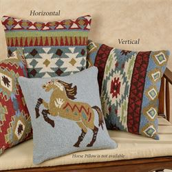 Corral Kilim Horse Pillow Multi Warm 16 Square
