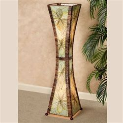 Brunei Hourglass Floor Lamp Green