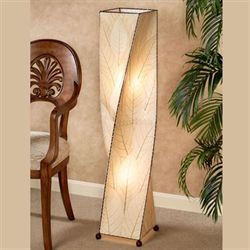 Tropical Twist Floor Lamp Natural