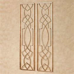 Nassalia Wall Art Panels Gold Set of Two