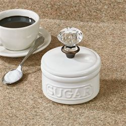 Circa Sugar Bowl with Lid White
