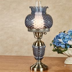 Eleanora Hobnail Table Lamp Dark Blue