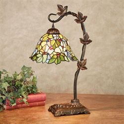 Neko Stained Glass Desk Lamp Burnished Bronze