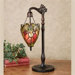 Zyler Stained Glass Table Lamp Sunset