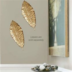 Palm Leaf Wall Accent Gold