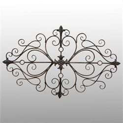 Scroll Wall Grille Black/Gold
