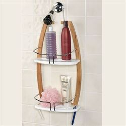 Natural Elements Hanging Bamboo Shower Caddy