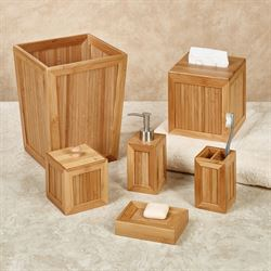 'Natural Elements Bath Accessories Set of Six' from the web at 'https://www.touchofclass.com/images/ml/I918-001.jpg'