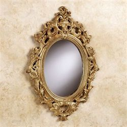 Acanthus Oval Mirror Gold