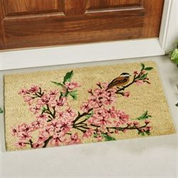 Cherry Blossom Coir Doormat