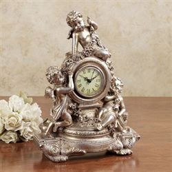 Cherub Table Clock Champagne Gold