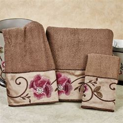 Larissa Bath Towel Set Cocoa Bath Hand Fingertip
