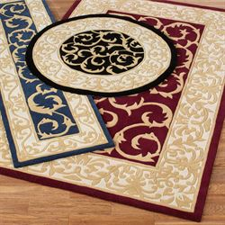 Regal Scroll Rectangle Rug
