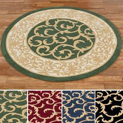 Regal Scroll Round Rug 39 Round