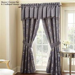 Prudence Wide Tailored Curtain Pair Purple 110 x 84
