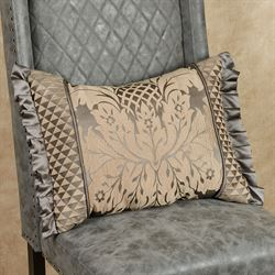 Melbourne Flanged Rectangle Pillow Dark Gray