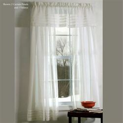 Galway Pleat Accented Curtain Panel